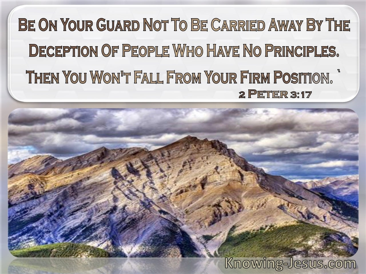 2 Peter 3:17 Do Not Be Carried Away By The Deception Of People With No Principles (windows)08:04